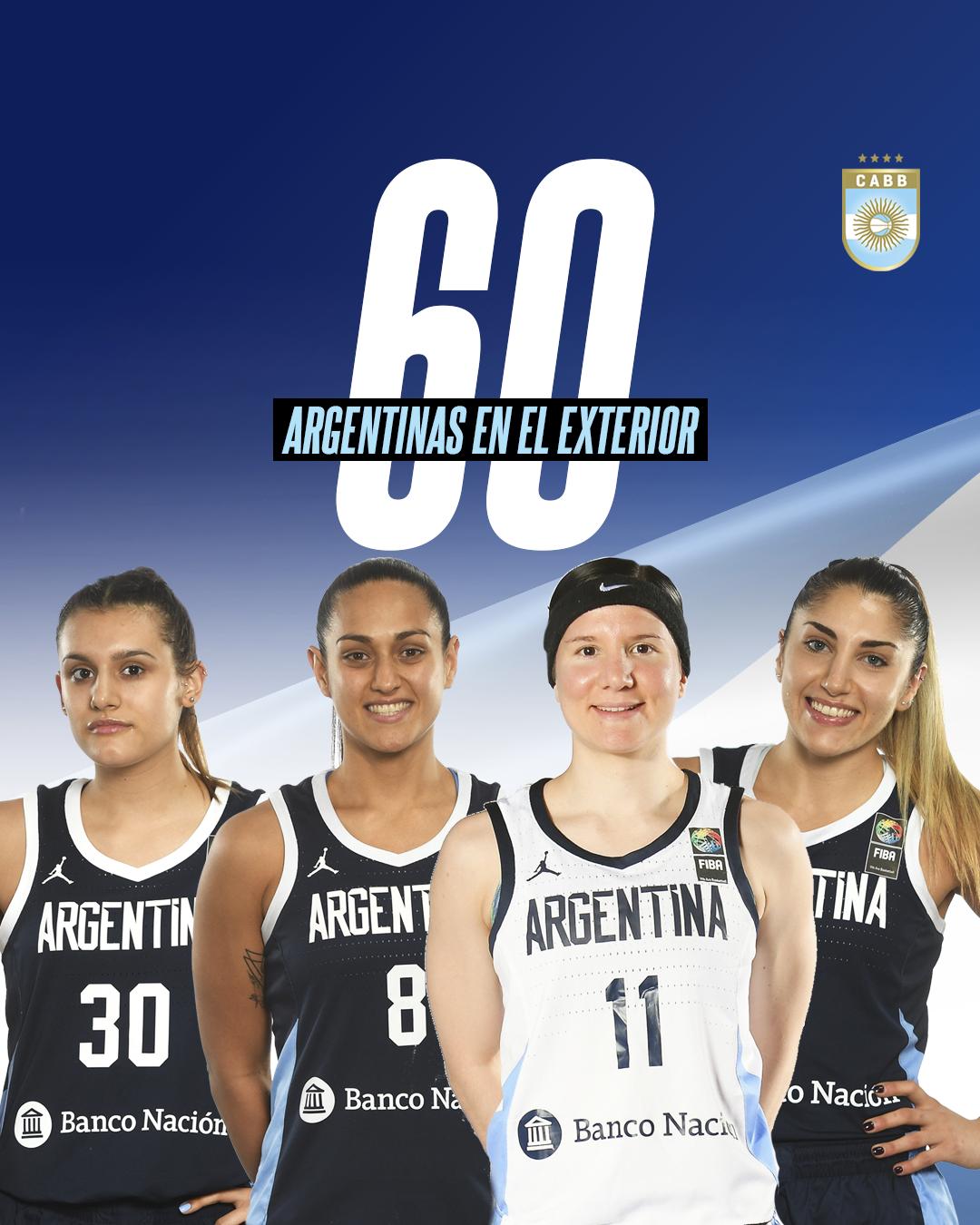 Femenino en crecimiento: una temporada con 60 jugadoras en el exterior