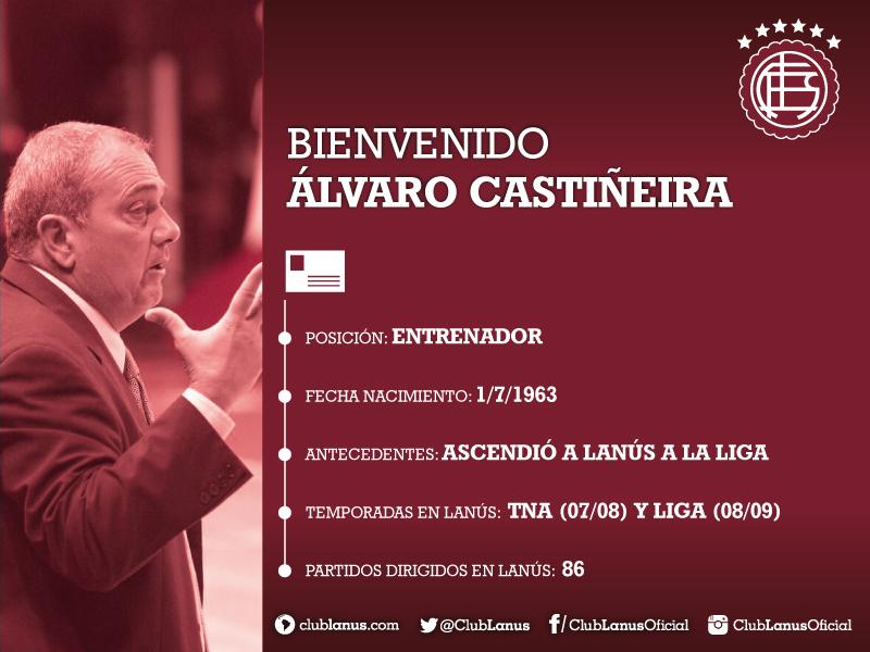 Álvaro Castiñeira, el nuevo entrenador de Lanús