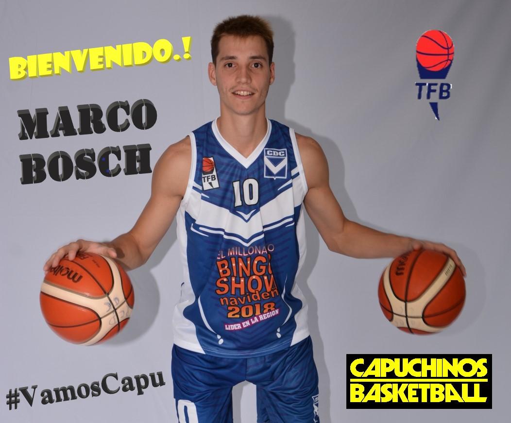 Marco Bosch es nuevo jugador de Capuchinos