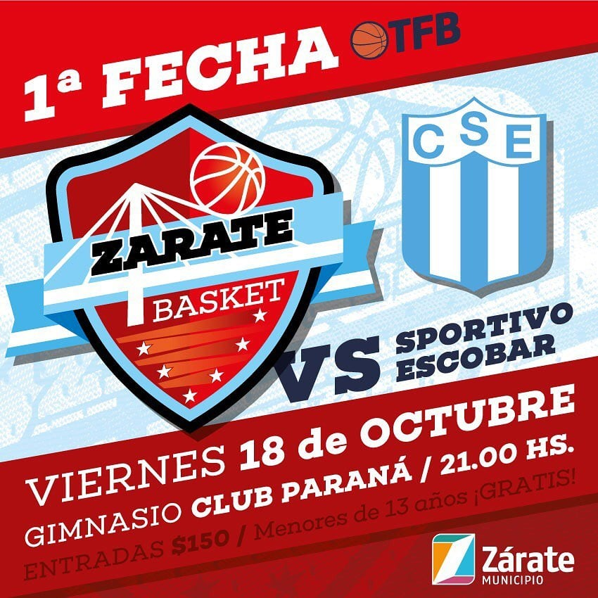 Zárate Basket debuta en el Federal