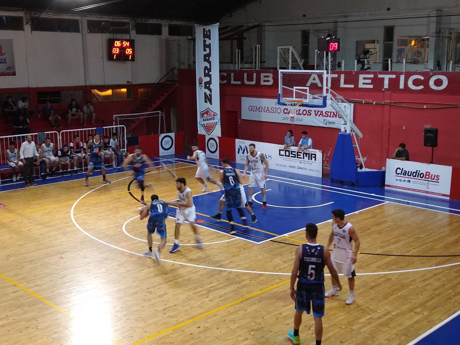 Zárate Basket recuperó su juego tras derrotar a Somisa