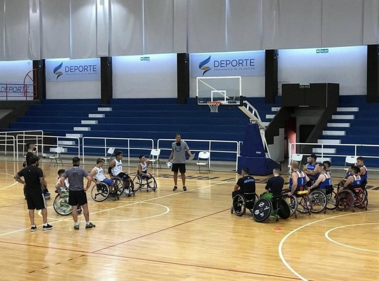 Básquet Adaptado: las concentraciones de los seleccionados de silla de ruedas