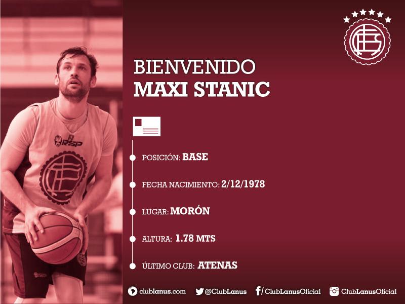Refuerzo de jerarquía para Lanús: Maxi Stanic