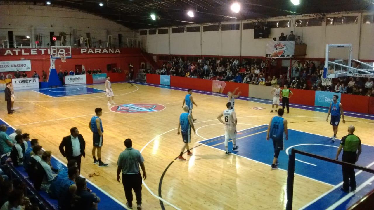 Zárate Basket necesitó dos prórrogas para quebrar a Atlético Pilar