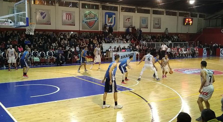 Zárate Basket sufrió, pero barrió a Atlético Pilar
