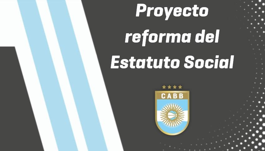 Proyecto de reforma del estatuto social