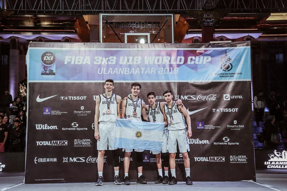 Argentina se subió al podio en el Mundial U18 de 3x3
