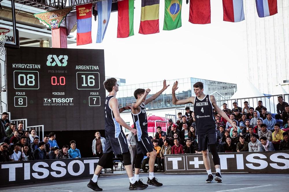 Argentina está en los cuartos de final del Mundial U18 de 3x3