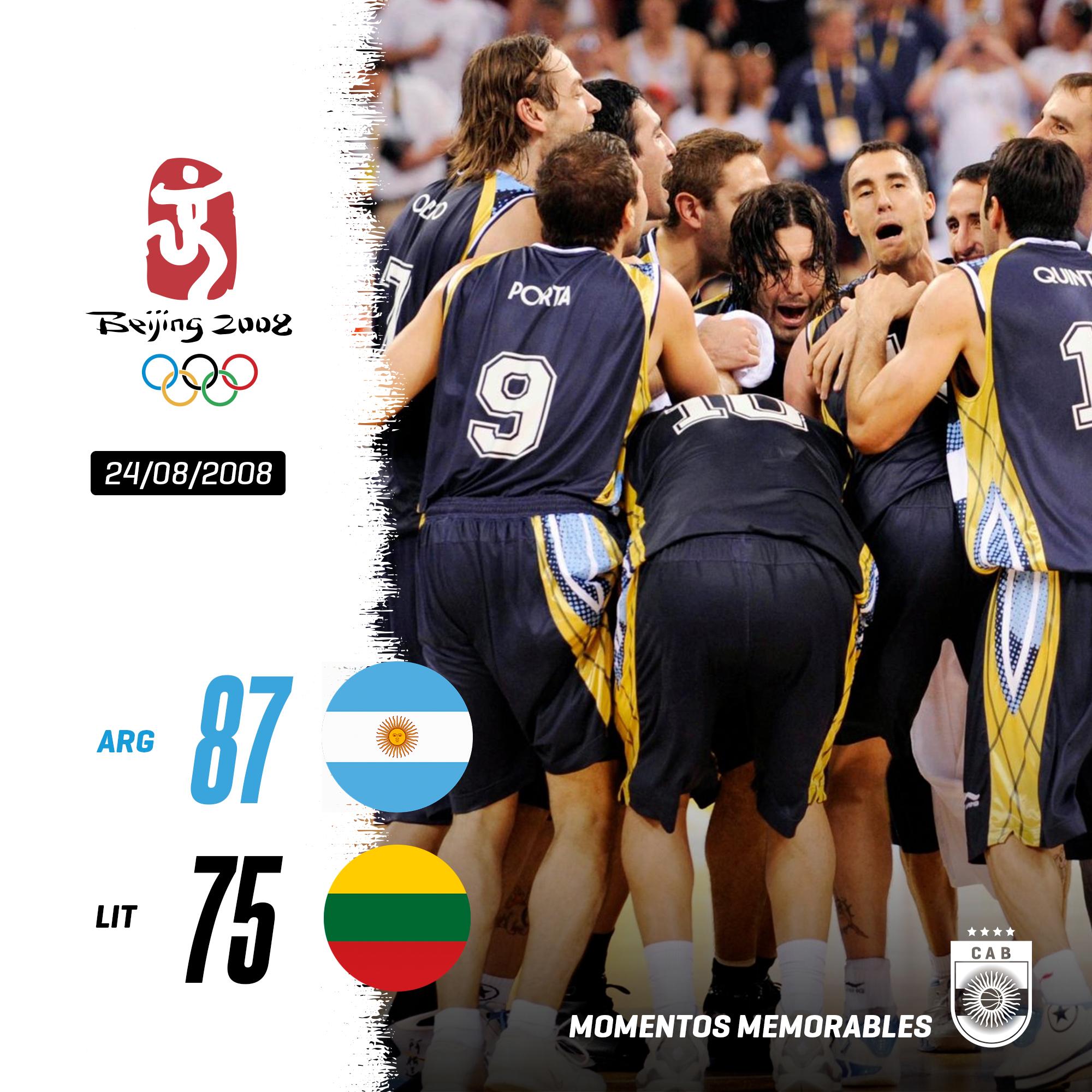 Partidos memorables: Argentina-Lituania 2008, un bronce con sabor a oro