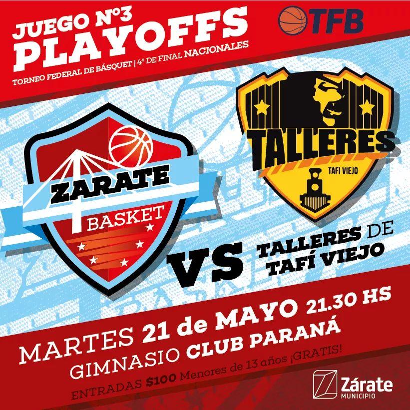 Zárate Basket recibe a Talleres en un partido clave