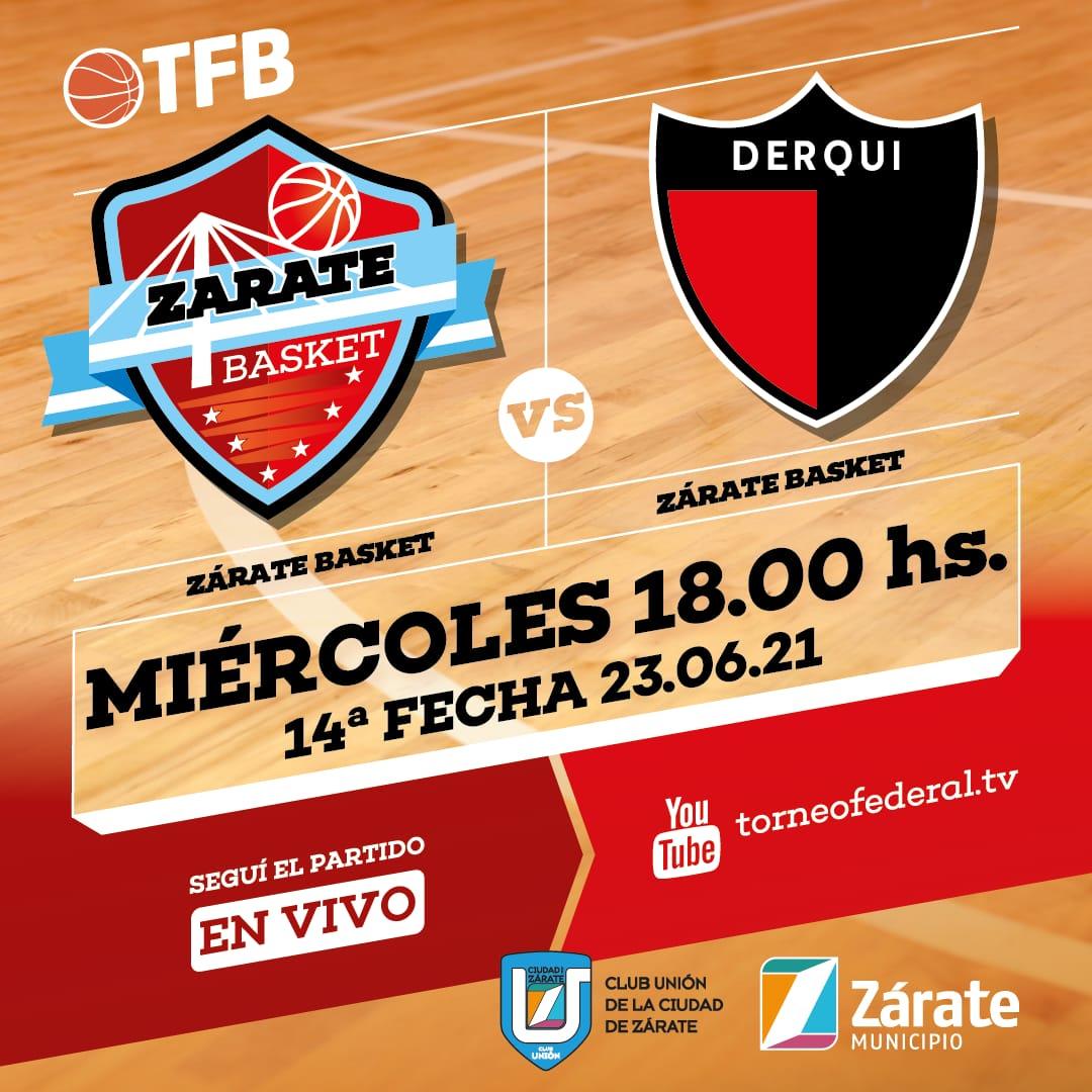 Zárate Basket espera a Derqui en un duelo decisivo para la visita